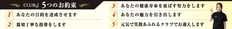 5つのお約束